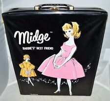 Vtg 1962 Midge Marked 1958 with Clothing Accessories Case Dated 1962
