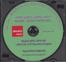 2014-2017 Isuzu NPR NPR HD NRR Truck w/ 6.0L Gas Engine Repair Manual 17-ESM-C01