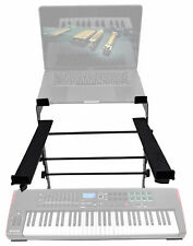 Rockville Dual Shelf Laptop+Controller Stand for Novation IMPULSE 61 Keyboard