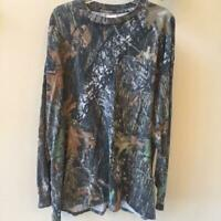 Mossy Oak Long Sleeve Camouflage Camo Tee T-Shirt With Pocket Size 3X