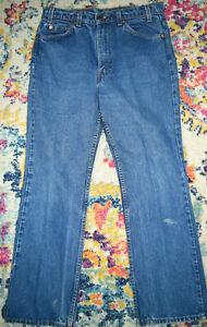 Vintage LEVI'S 517 Boot Cut Jeans 80s W32-33 L28.75 Orange Tab Made USA c.1986