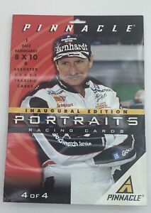 #1 Nascar Racing Cards Dale Earnhardt 8x10 + 6 assorted 2.5 Cards Pinnacle 1997