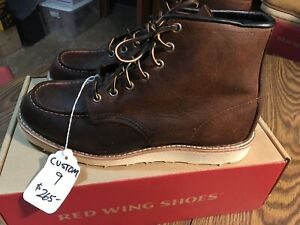 Red Wing 8173 Moc Toe Boots Custom 9E