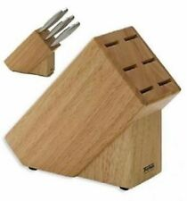 6 KNIVES THOMAS ROSENTHAL WOODEN STEAK KNIFE BLOCK STORAGE HOLDER RACK 812