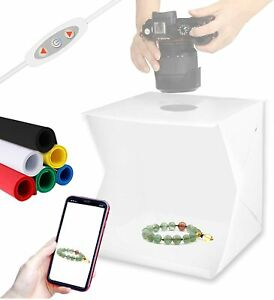 Photography Mini Foldable Light Box Dimmable Shooting Tent with 6 Color Backdrop