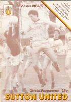 Sutton United v Hitchin Town 1984/5 (16 Apr) Isthmian League