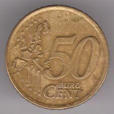 España 2000 50 Centavos De Euro Moneda de aleación de oro nórdico-Miguel de Cervantes