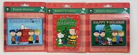 Lot Of 3 Peanuts Charlie Brown Christmas Xmas Puzzle Erasers Collection Snoopy