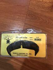 Nip Rubie's Costume Human Hair Mustache Dark Grey Style 2028