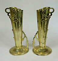 Vtg Yamatogumi Tokyo Japan Metal Bud Vases Marked