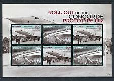 Guyana 2007 neuf sans charnière concorde prototype 002 roll out 6v m/s jet avion aviation timbres