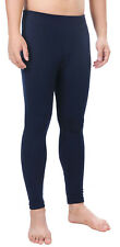 Men Winter Pants Solid Fleece Lined Long Johns Underwear Thermal Leggings