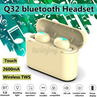 3 in 1 TWS bluetooth 5.0 Wireless In-Ear Stereo Earphones Earbuds Headset w/Mic