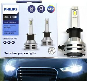 Philips Ultinon LED G2 6500K White H1 Two Bulbs Head Light Low Beam Replacement
