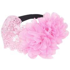 Bambini neonata fascia per capelli pizzo elastica Fiore - rosa A9F4