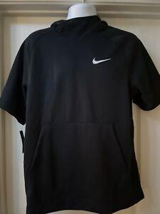 Nike Short Sleeve Pullover Hoodie Black Medium NWT