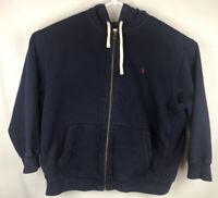 Vintage Polo By Ralph Lauren Men's Full Zip Hoodie Jacket Size 4XB XXXXL Navy
