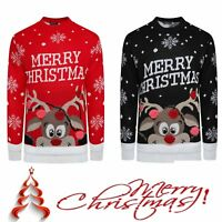 New Kids Childrens Boys Girls Xmas Christmas Retro Winter Jumper Sweater Knitted