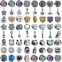 925 silver charms bead for european sterling charms bracelet necklace chain UK 1