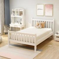 Twin Wood Platform Bed Frame Wooden Mattress Foundation w/Wood Slats Support