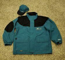Bass Pro Shops XPS GoreTex Teal Jacket w/ Matching GoreTex Hat Size XL