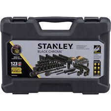 Stanley 123 Piece Mechanics Tool Set Standard SAE Metric Hard Case Garage Black
