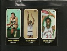 3211* 1971-72 Topps # 16a, 17a, 18a Cannon Beaty Scott NM