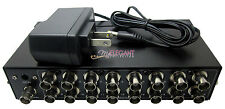 BNC Coaxial Composite Video 1 to 16 Ports 16-Way TV CCTV DVR Switch Splitter Box
