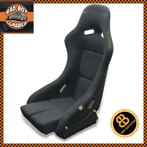 BB5 Fixed Fibreglass Narrow Racing Sports Bucket Seat + Side Mounts & Runners