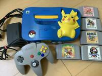 Nintendo 64 N64 Pokemon Pikachu Console Blue & Yellow Console Only Japan Used