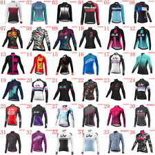 women Pro Team Cycling Jersey bicycle shirt Long Sleeve breathable bike Outfits