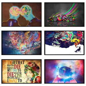 Colorful Abstract Art Prints Unframed Poster Home Room Wall Decor 60*30cm