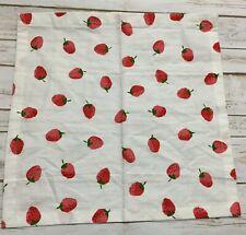 New listing Kate Spade New York 100% Cotton Napkin White Strawberry Print