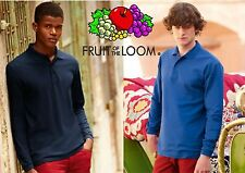 Fruit of The Loom Premium Long Polo Uomo Nero Medium