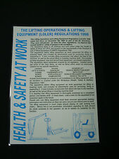 A3 Health & Safety LOLER Poster LOLER Sign LOLER Notice