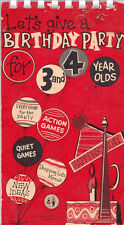 Let's Give a Birthday Party for 3 and 4 Year Olds - Party Games Vtg 1960