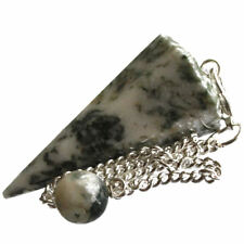Tree Agate Dendritic Crystal Point Dowsing Pendulum Security Strength Confidence