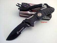"US Marines MTech M-1020BK REAPER 4.75"" Folding Pocket Knife Combo Edge"