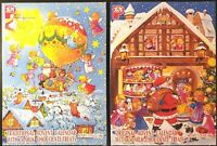 Traditional Advent Calendar 24 European Chocolates Christmas (SET OF 2) NEW SEAL