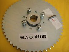 "GO CART SPROCKET AND HUB FOR 1"" AXLE ,54 TOOTH FOR #40,41 &420 CHAIN  WAO :1799"