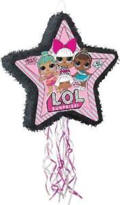 LOL Doll Star Shaped Drum Pull Pinata Party Birthday