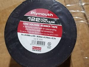"""Plymouth #2020 122 2 inch 80C/600V Rubber Electrical Splicing Tape 2"""" x 22ft"""