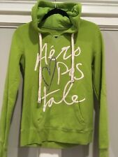 Aeropostale junior girls logo sweatshirt lime green size M