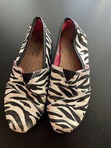 Skechers Lil Bobs Girls Shoes Zebra Stripe Glitter Youth 2