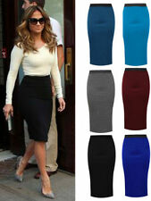 Unbranded Patternless Formal Plus Size Skirts for Women
