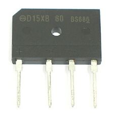 4pcs 600V 15Amp D15XB60 - Single Phase Bridge Rectifier Diode - 600 volt 15a