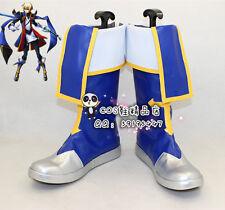 BlazBlue Jin Kisaragi Blue Halloween Cosplay Shoes Boots X002