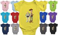 Infant Baby Rib Bodysuit Jumpsuit Newborn Clothes Woody & Buzz Buddies Toy Story