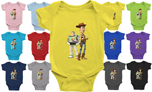 Infant Baby Bodysuit Jumpsuit One Pieces Clothes Gift Cowboy Woody Buzz Buddies