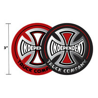 """3"""" Independent Truck Company Logo Foil Skateboard Sticker Iron Cross 2 Colors"""